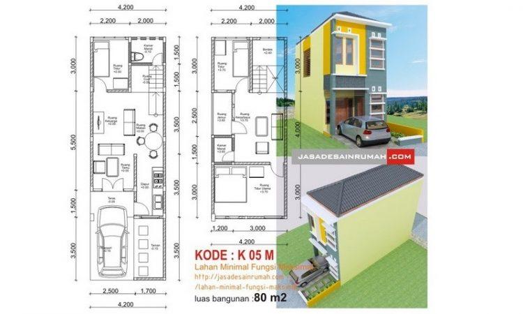 √ 30 Desain & Denah Rumah Minimalis 2 Lantai Sederhana Modern