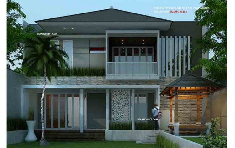 30 Desain Denah Rumah Minimalis 2 Lantai Sederhana Modern