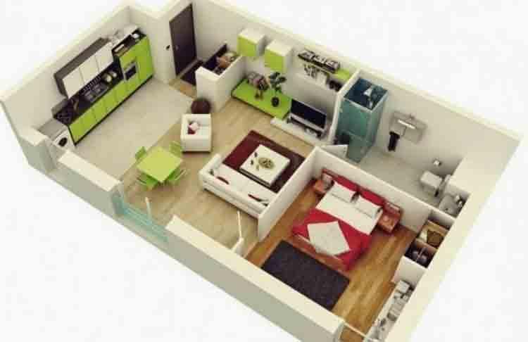 √ 30 Denah Rumah Type 36 Desain Minimalis 1 & 2 Lantai