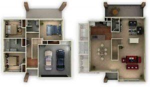 30+ denah rumah type 36, desain minimalis 1 & 2 lantai
