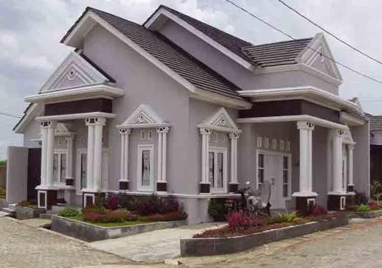 45 Gambar Rumah Mewah Satu Lantai Gaya Eropa HD