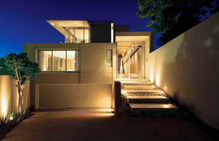 rumah minimalis biru