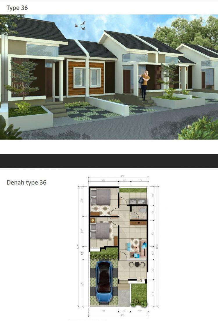 desain rumah type 36 full bangunan