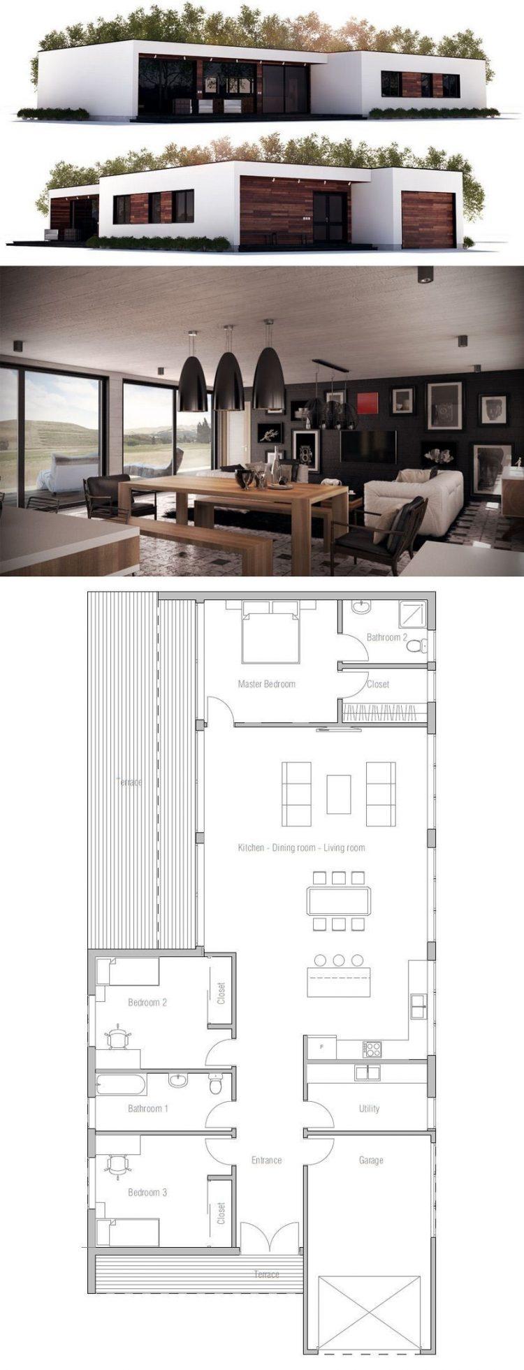 60 Desain Dan Denah Rumah Minimalis Sederhana Modern