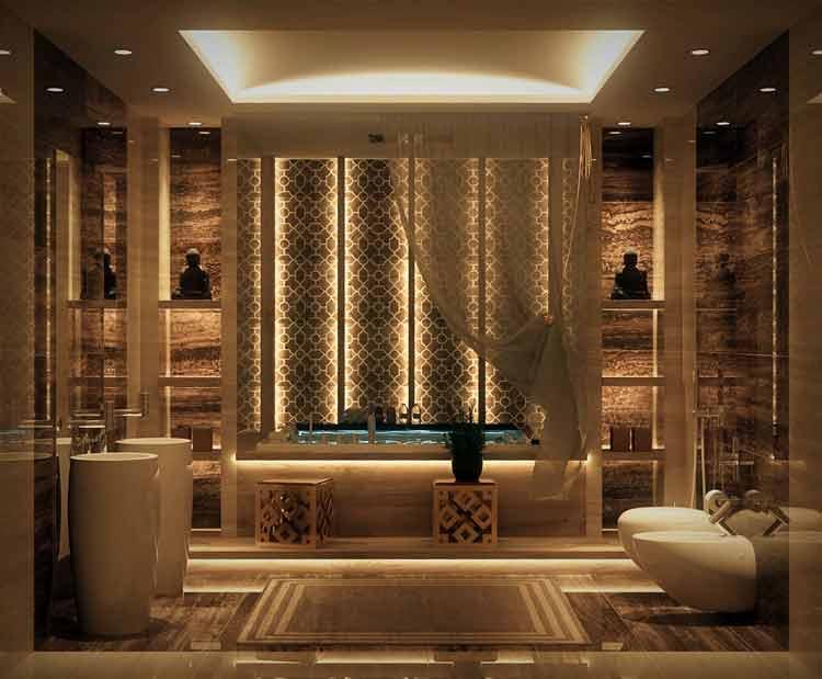 kamar mandi kaca mewah