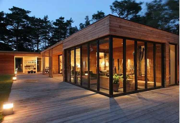 rumah kayu minimalis elegan