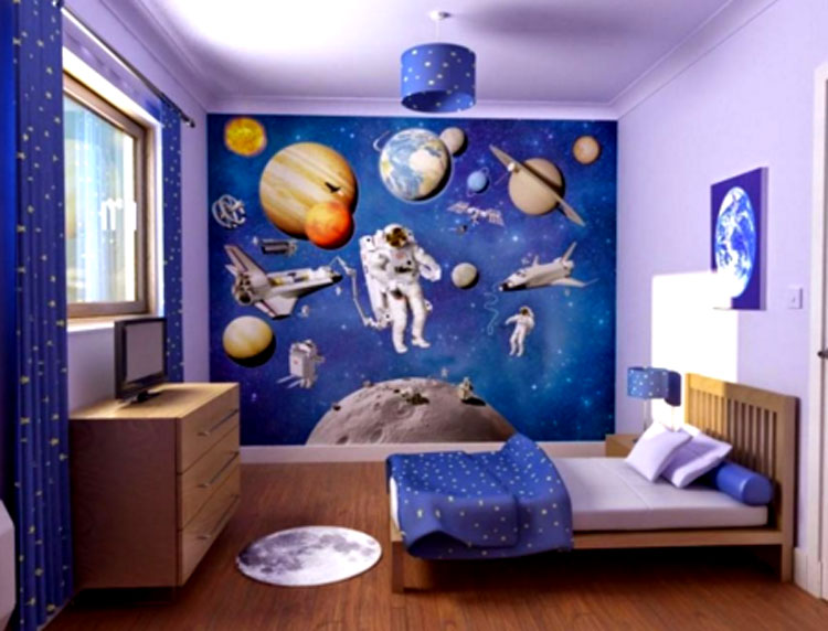 wallpaper dinding custom kamar anak