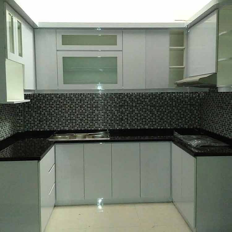 harga kitchen set aluminium coklat