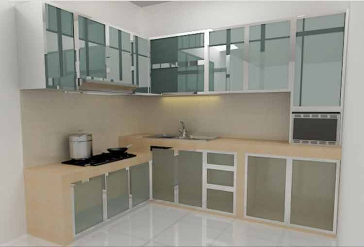 kitchen set aluminium composite