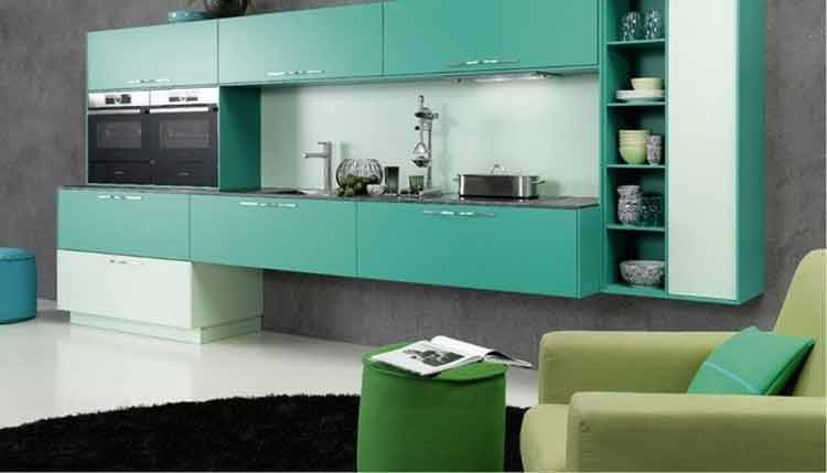 kitchen set aluminium vs kayu