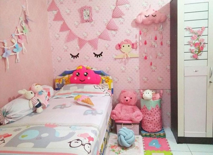 model wallpaper dinding kamar anak