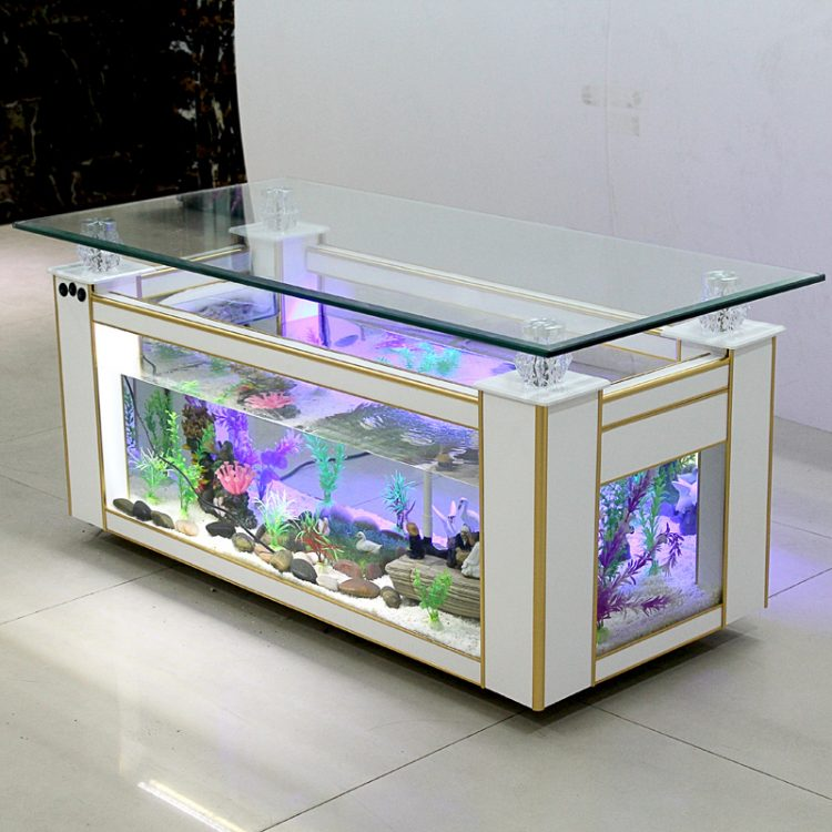 meja aquarium air laut